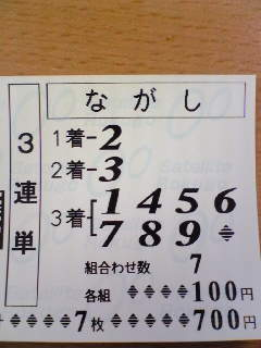 3連単GET!!