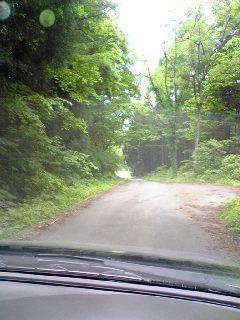 狭い山岳道&待避所