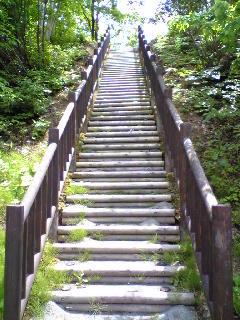 大松川ダムの公園の展望台へ