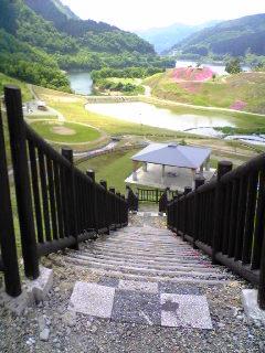 大松川ダムの展望台から