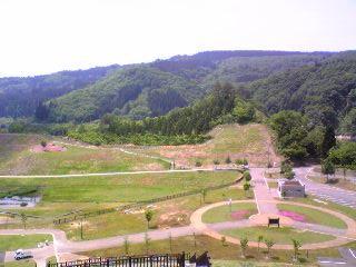 大松川ダムからの風景