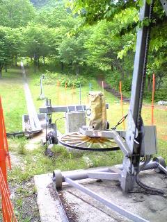 滑り台の発射台
