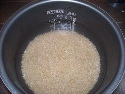 玄米炊く1