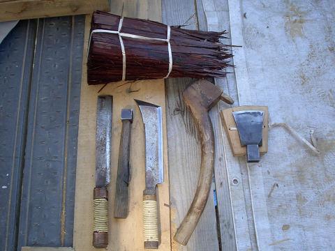 桧皮屋さんの道具