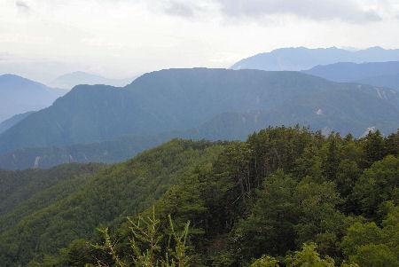 20090820 1別当代山(笹山南稜線より)