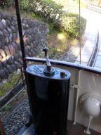 京都市電・動態保存車両弐號車のコントローラー - 明治村