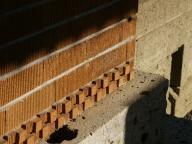 帝国ホテル外壁のスクラッチタイル - 明治村