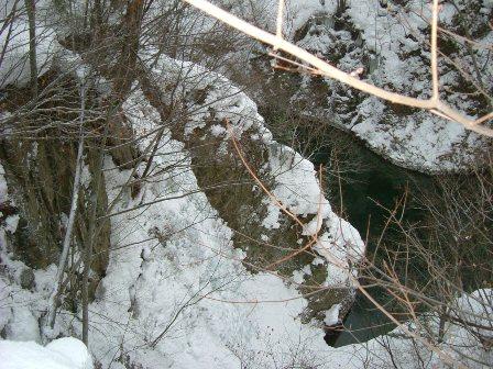 林道から見る布引の滝