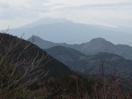 城山山頂から富士山