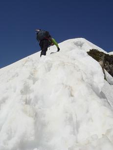 第二岩峰乗っ越して更に上へ-1