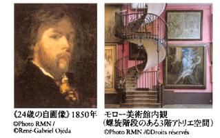 モロー自画像と美術館内観