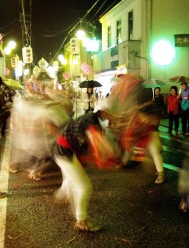 川島祭り 夜の獅子舞