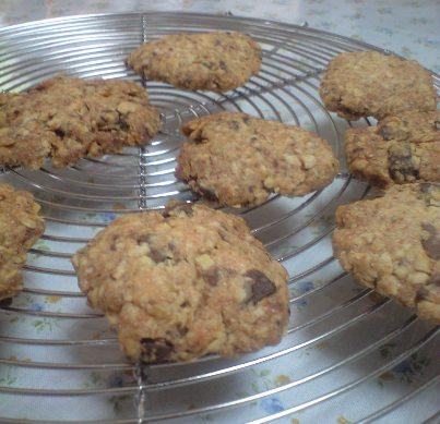 オートミールとチョコのクッキー