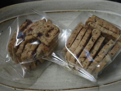5ムング豆と黒糖のクッキー・エゴマのクッキー