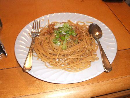 納豆スパゲティー