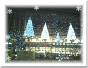 12/5雪の名古屋駅にゃん☆.:゚☆.:゚☆.:゚