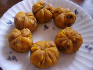 かぼちゃにゃん饅頭にゃん☆.:゚☆.:゚☆.:゚