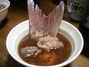 鯛のあら味噌汁にゃん☆.:゚☆.:゚☆.:゚