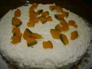 パンプキンチーズケーキにゃん☆.:゚☆.:゚☆.:゚
