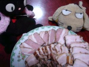 焼き豚にゃんにこっ☆.:゚☆.:゚☆.:゚