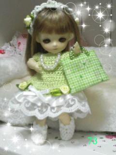 pf黄緑ドレス