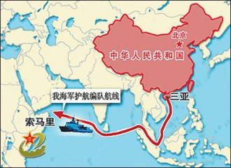 中國軍艦航線圖
