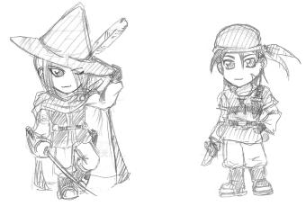 赤魔術師&盗賊