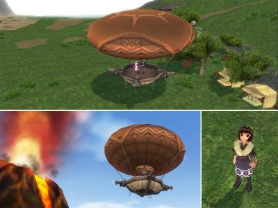 気球で火山へ