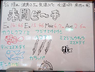 宮古島 ログデータ 2009/6/23