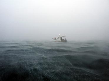 宮古島 風回り後、海況が急変