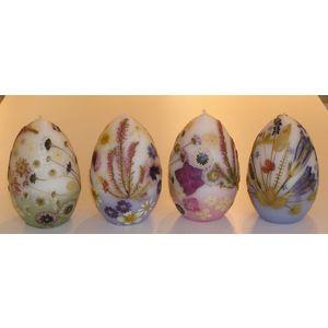 押し花キャンドル(卵型)