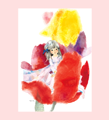ポストカード 花のなかのおやゆび姫