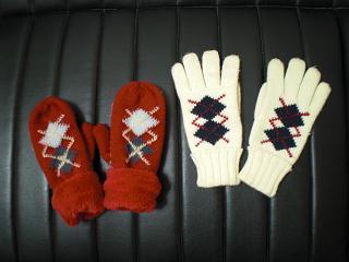 アーガイル手袋