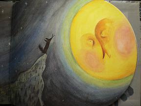 おおかみと月