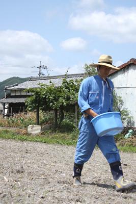 耕平肥料をまく人