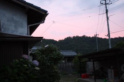 0menpei荘の夕焼け