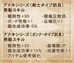 アナキシリーズスキル