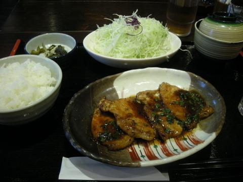 和幸の生姜焼き定食