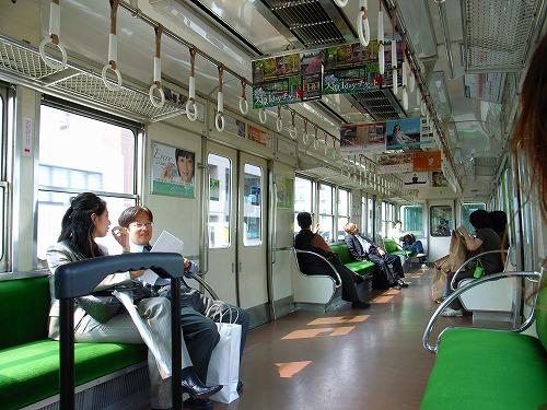 京都行き電車内1