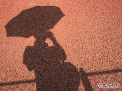 カメラと日傘と私