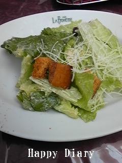 ラ・ボエムのランチのサラダ