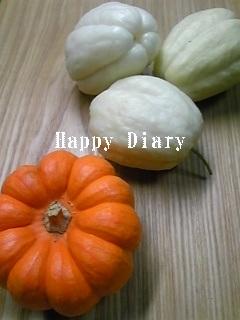 飾りかぼちゃとハヤトウリ