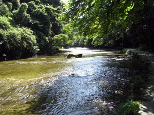 ずーっと続く川