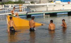 キッカー進水