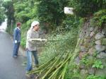 一番街アーケード:七夕飾り 竹取り作業 2008