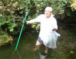 水屋敷:池そうじ20080828