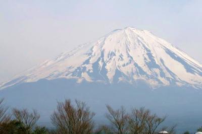 北西からの富士山