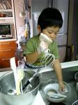 洗い物も!