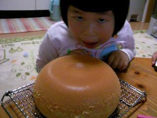 炊飯器カステラ完成①