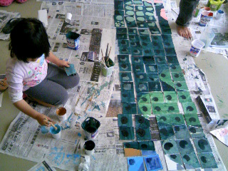 塗り作業終わり